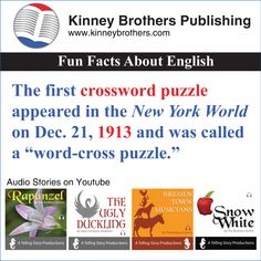 A short history of crossword puzzles.
