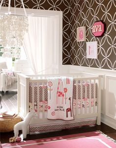 302 Best Pink And Brown Rooms Images Nursery Room Girl