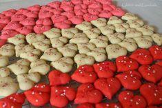 "Valentines Day ""Make Ahead"" Spritz Cookies - Glitter and Goulash Valentine Sugar Cookie Recipe, Spritz Cookie Recipe, Valentines Baking, Spritz Cookies, Valentine Desserts, Valentines Day Treats, Valentine Cookies, Easter Cookies, Birthday Cookies"