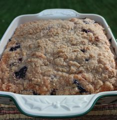 Blueberry Struesel and Spinach squares 029 Brunch Cake, Breakfast Cake, Breakfast Recipes, Baking Recipes, Cake Recipes, Dessert Recipes, Cheese Recipes, Blueberry Desserts, Blueberry Cake