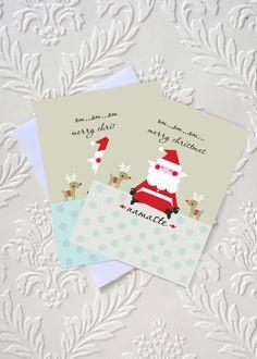 om...om...om...merry christmas  Yoga Christmas Card  idocaredesigns.com  Design by: Jazmin Sasky