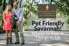 Enjoy a getaway with your dog in pet-friendly Savannah! Here are our suggestions for pet-friendly Savannah B&Bs, shops, tours & restaurants. Oh The Places You'll Go, Places To Travel, Savanna Georgia, Dog Restaurant, Dog Cafe, Dog Travel, Travel Usa, Travel Magazines, Future Travel