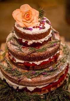 How CUTE is this naked wedding cake with a gorgeous peach rose on top! Lizel & Luke's Rustic Wedding in Sunny South Africa - see all the gorgeous photos, details and suppliers to inspire your own perfect wedding on Wedding Ideas today! Fairy Garden Cake, Garden Cakes, Wedding Cake Boards, Wedding Cakes, Rustic Wedding, Our Wedding, Three Tier Cake, Peach Rose, Wedding Inspiration