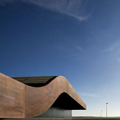 corten steel, airport in alguaire, spain - b720 Arquitectos