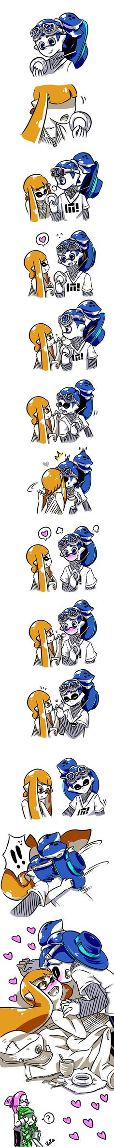 [Splatoon] Pudding and Donut little comic 2 by zzoza