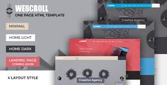 WeScroll Business Single Page HTML Template