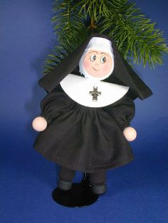 Nun Clothespin Ornament Sister Habit Clothes by clotheslinecuties