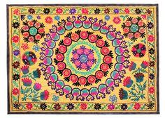 Handmade Vintage Suzani NL2545