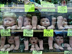 "Attilio Polo: ""An unusual shop window I came across in the city of Puebla, in Mexico."""