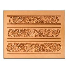Floral Belt 2 Craftaid Leather Design Pattern Template Leathercraft 76623-00 #TandyLeather