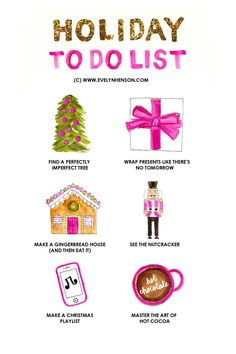 brightly decorated life holiday to do list // www.evelynhenson.com