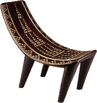 Pierre Legrain (1889-1929) Tabouret (stool) c. 1923 Lacquered wood, horn, gilding L. 64.1 cm (25 1/4 in.) Virginia Museum of Fine Arts, The ...