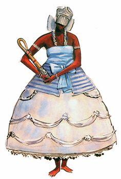 """Nanã - Imagens retiradas do livro """"Os Deuses Africanos no Candomblé da Bahia"""" de Caribé"""