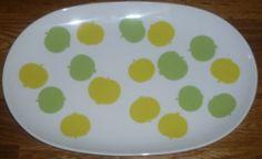 Platte / Servierplatte 32 cm /21 cm Melitta LINDAU Apfelmotiv Äpfelchen   eBay 35,-- Top Zustand - 1B Qualität