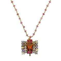 Andrea Barnett One of a Kind Pink Tourmaline Necklace - Charde Jewelers