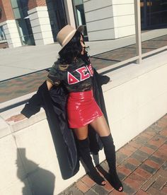 Delta Sigma Theta Apparel, Alpha Kappa Alpha Sorority, Sorority Pictures, Grad Pictures, Red Chucks, Fall Outfits, Summer Outfits, Delta Girl, Satin Jackets