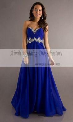 Vestidos de coctel azul rey hernandez