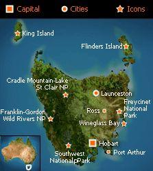Tasmania / Australia's island state.