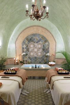 For complete relaxation, book a couples massage treament in an actual wine cave. #Jetsetter The Meritage Resort & Spa (Napa, California)