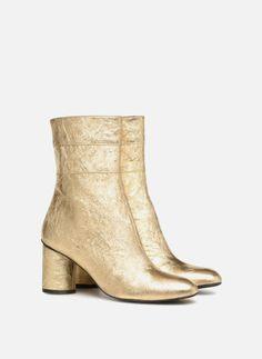 2673ee0bf4e72f Bottines et boots Made by SARENZA Pastel Affair Boots #2 Or et bronze vue  derrière