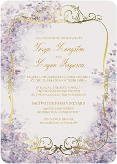 Perfect Paradise - Signature Foil Wedding Invitations - Claire Pettibone - Lightest Turquoise - Blue : Front