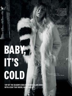 "Duchess Dior: ""Baby, It's Cold"" ELLE Australia June 2016"