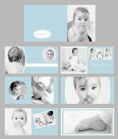 Items similar to Baby Blue Photo album/ Photo book template set can be resized to any square dimensions) on Etsy Baby Photo Books, Photo Guest Book, Kids Photo Album, Wedding Album Design, Name Card Design, Book Design Layout, Book Projects, Baby Scrapbook, Portfolio