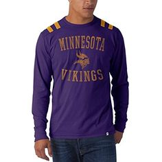 NFL Minnesota Vikings Mens Bruiser Long Sleeve Tee Medium Grape * To view further for this item, visit the image link.