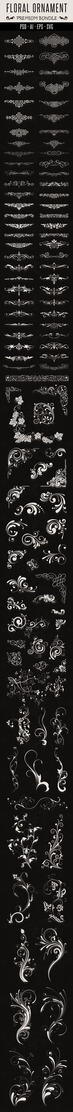 Floral Ornament  by Nhat Tien, via Behance