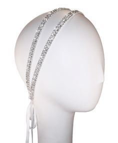 Image of Two Strand Coy Crystal Double Headband