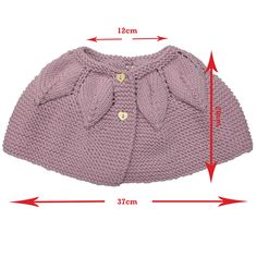 This Pin was discovered by Irm Baby Knitting Patterns, Free Baby Patterns, Knitting For Kids, Red Riding Hood Costume Kids, Crochet Baby, Knit Crochet, Knitted Cape, Knitting Videos, Baby Cardigan