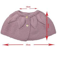 Punto para bebés, patrón paso a paso de como hacer una capa a tricot o calceta para bebé con Dolce Merino de Katia y Big Merino de Drops desing.