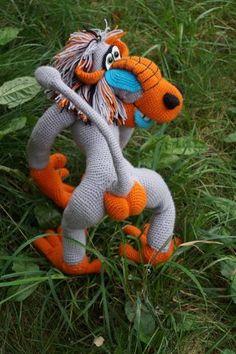 Павиан Гиббонович Краснозадов - Завязландия - Галерея - Форум почитателей амигуруми (вязаной игрушки)