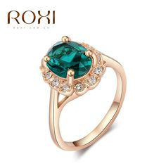 ROXI Brand Ring For Women Fashion Crystal Zirconia Gold Plated Rings for Women Luxury Engagement Ring Elegant Wedding  Jewelry