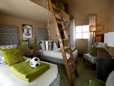 HGTV green home - child's bedroom - Serenbe