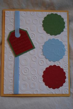 Lots of embossing. Stampin Up Birthday Card