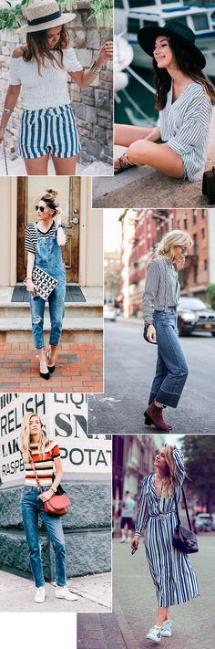 Street style looks com listras, truque certeiro pra ficar estilosa em um piscar de olhos