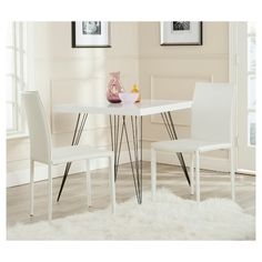 online shopping for Safavieh Home Collection Karna Modern White Croc Dining Chair (Set from top store. See new offer for Safavieh Home Collection Karna Modern White Croc Dining Chair (Set Mismatched Dining Chairs, White Leather Dining Chairs, White Dining Chairs, Contemporary Dining Chairs, Upholstered Dining Chairs, Dining Chair Set, Side Chairs, Dining Area, Dining Tables