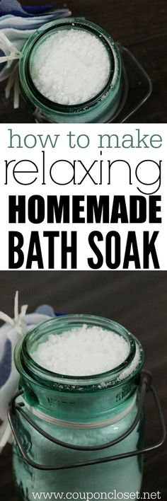 How to make homemade bath soak easily and quickly. You will be surprised how easy it is to make this Bubbling Bath Salts that smells amazing! #homemadebathsoak #bathsalts #diygift #onecrazymom