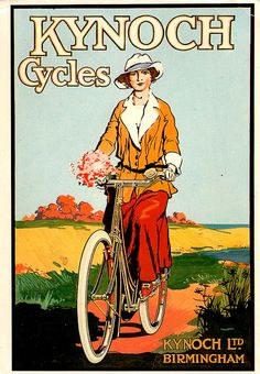 Vintage cycling advertising by Mark Gell
