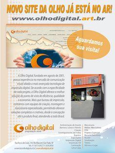 Novo site no Ar....Uhu! convido todos à uma visitinha basica;-)! www.olhodigital.art.br