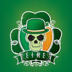 Irish lucky skull
