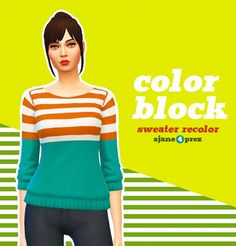 Recolors of marvinsims loose knit sweaters at 4 Prez Sims4 • Sims 4 Updates