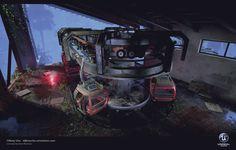 ArtStation - The Rest of Us - Abandoned Station [UE4], Tiffany Chu