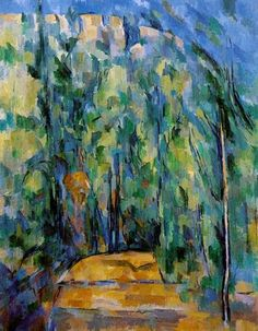 Cezanne. The effect of blurred colours resembles the effect created from prints.