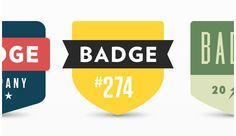 PSD Freebie: 3 minimal badges free PSD