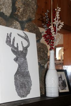 Christmas Decor DIY // Bright Sparkly Reindeer | MIXED METHOD