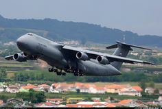 - Photo taken at Lajes (Terceira Island - Lajes) (TER / LPLA) in Azores, Portugal on August Cargo Aircraft, Military Aircraft, C 5 Galaxy, Top Gun, Us Air Force, Aircraft Carrier, Military Art, Fighter Jets, Transportation