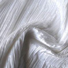 White Crushed Art Silk  1 Yard by FabricMart on Etsy, $12.45