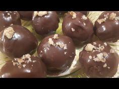 Σοκολατακια στο λεπτό!! - YouTube Persian Desserts, Nutella, Pudding, Cookies, Chocolate, Fruit, Cake, Food, Youtube